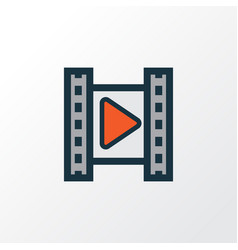 cinema colorful outline symbol premium quality vector image vector image