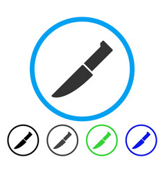 knife rounded icon vector image vector image