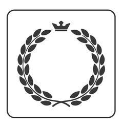 Laurel wreath icon crown flat vector image vector image
