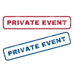 Private Event Rubber Stamps vector image vector image