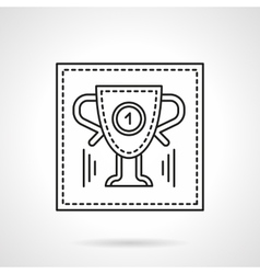 Sport trophy flat line icon vector image