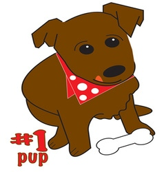 1 Pup vector image