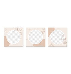 Abstract organic templates for instagram vector