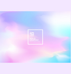 Abstract smooth iridescent background holographic vector