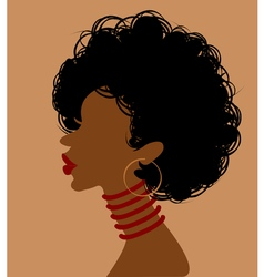 African woman in profile vector