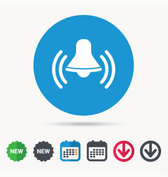 Bell icon reminder alarm signal sign vector