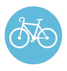 bicycle vehicle isolated icon vector image