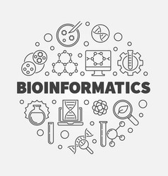 bioinformatics round in thin vector image