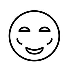 Blush emoji icon vector