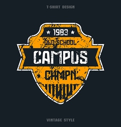 Campus sport team emblem vector
