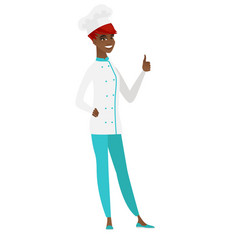 Chef cook giving thumb up vector