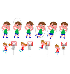Children movement sequence vector