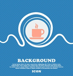 Coffee sign icon Blue and white abstract vector