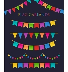 Colorful Garlands vector image