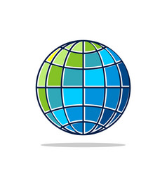 colorful globe logo template vector image