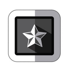 contour star icon image vector image