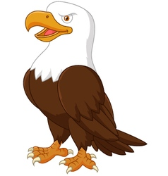 Cute eagle cartoon vector