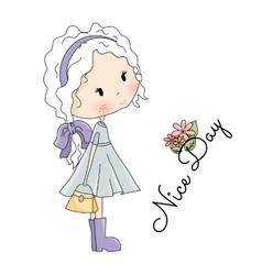 Doll Beautiful Little Girl vector image