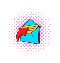 E-mail message icon pop-art style vector
