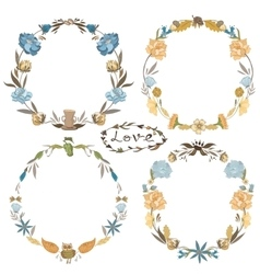 Fall wreath set vector