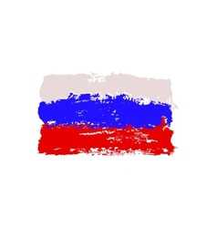 Flag painted by brush hand paints vector