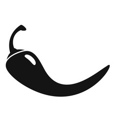 food chili pepper icon simple style vector image
