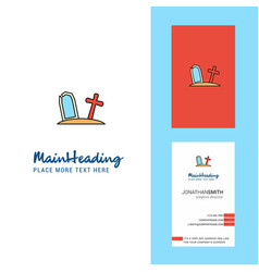graveyard creative logo and business card vector image