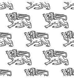 Great heraldic lion seamless vector image