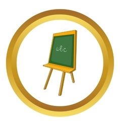 Green chalkboard icon vector image