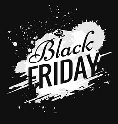 Grunge black friday design vector