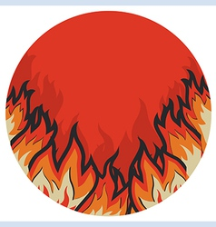 Grunge fire label vector image