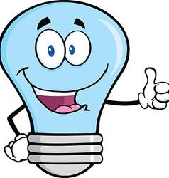 Happy light bulb cartoon vector image