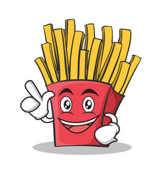 have an idea french fries cartoon character vector image