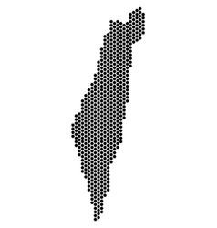 hex-tile israel map vector image
