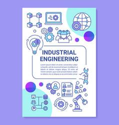 Industrial engineering brochure template layout vector