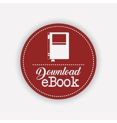 Isolated label of ebook design vector