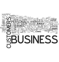 It is personal it s business text background word vector