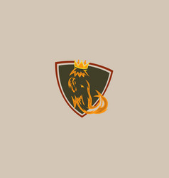 king mammoth icon logo vector image