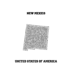 Label with map new mexico vector