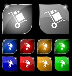 Loader Icon sign Set of ten colorful buttons with vector