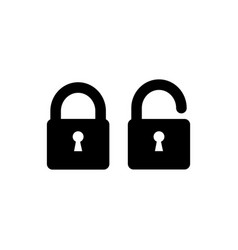 lock icon simple sign in flat style vector image vector image