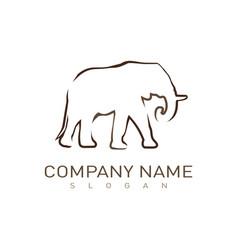 logo elephant vector image
