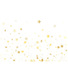 magic gold sparkle texture star background vector image