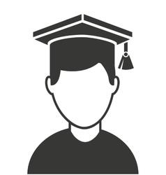 Man graduation graduated icon vector