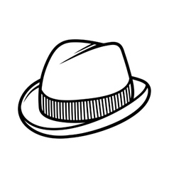 Mans Trilby Hat Icon Isolated on White Background vector image