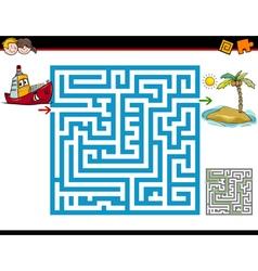 Maze activity for children vector