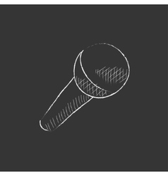 Microphone Drawn in chalk icon vector