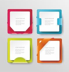 modern banners or frames element design Plastic vector image