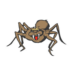monster spider cartoon animal character vector image