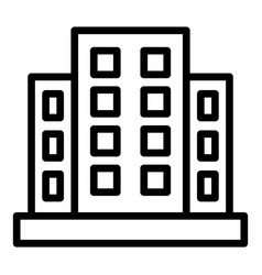 Mortgage apartments icon outline style vector